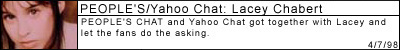 PEOPLE'S CHAT/Yahoo Chat: Lacey Chabert